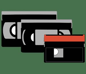 Cassette vhs, cassette vhs-c, cassette Mini DV