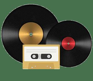 Disque, audio cassette, bande magnétique