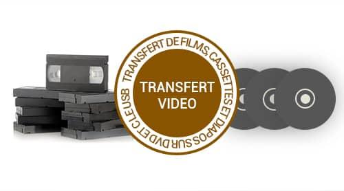Transfert Vidéo de films et cassettes sur DVD et clé USB