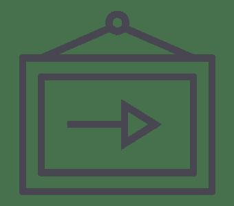 Signalisation et gestion des flux (kakémono, potelets)
